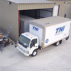 Truck loading area